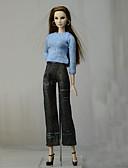 povoljno Odijela-Odjeća za lutke Hlače s lutkama Hlače Majice Za Barbie Moda Plava Nonwoven Fabric Tkanina Pamučne tkanine Top / Hlače Za Djevojka je Doll igračkama