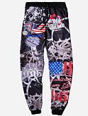 cheap Men's Pants & Shorts-Men's Basic Loose Sweatpants Pants - Galaxy / Color Block Print Black