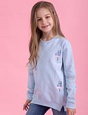 levne Dívčí mikiny-Děti Dívčí Aktivní / Základní Denní / Jdeme ven Jednobarevné Výšivka Dlouhý rukáv Standardní Bavlna / Spandex Mikinky Vodní modrá