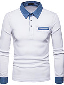 cheap Men's Shirts-Men's Basic Shirt - Color Block