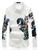 ieftine Tricou Bărbați-Bărbați Cămașă De Bază - Floral