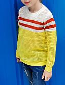 povoljno Džemperi i kardigani za bebe-Djeca Djevojčice Osnovni Dnevno Jednobojni Dugih rukava Pamuk Džemper i kardigan Bijela