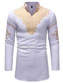 お買い得  メンズTシャツ&タンクトップ-男性用 プリント シャツ ベーシック 幾何学模様