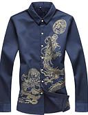 tanie Męskie koszule-Koszula Męskie Podstawowy Graficzny