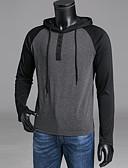 povoljno Muške duge i kratke hlače-Majica s rukavima Muškarci Dnevno Color block S kapuljačom / Dugih rukava
