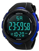 levne Vojenské hodinky-Pánské Sportovní hodinky Digitální hodinky japonština Digitální Silikon Černá 30 m Voděodolné Alarm Kalendář Digitální Módní - Černá Černá / Modrá / Chronograf / Stopky / Svítící