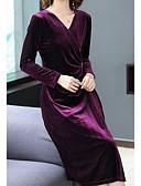 olcso Molett ruhák-Női Alap Bársony Nadrág Lóhere / V-alakú
