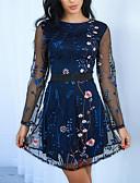 זול שמלות NYE-מיני רקום, פרחוני - שמלה נדן בסיסי בגדי ריקוד נשים