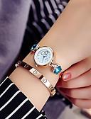 baratos Relógios de Pulseira-Mulheres Bracele Relógio Relógio de Pulso Quartzo Relógio Casual imitação de diamante Lega Banda Analógico Brilhante Elegante Prata / Dourada - Azul Azul marinho Marinha / Branco