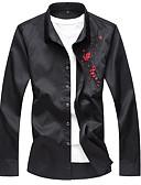 ieftine Tricou Bărbați-cămașă pentru bărbați plus - gât patrat floral / solid