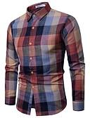 billige Herreskjorter-Skjorte Herre - Ruter Vintage / Grunnleggende