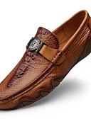baratos Chapéu Masculino-Homens Sapatos de couro Pele Napa Primavera & Outono Casual / Formais Mocassins e Slip-Ons Massgem Preto / Café / Marron