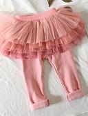 tanie Sukienki dla dziewczynek-Dziecko Dla dziewczynek Podstawowy Codzienny Solidne kolory Poliester Spodnie Rumiany róż / Brzdąc