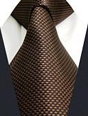 olcso Férfi nyakkendők és csokornyakkendők-Férfi Egyszínű / Jacquardszövet Munkahelyi / Alap - Nyakkendő