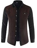 povoljno Muške košulje-Majica Muškarci - Osnovni Vikend Color block Kolaž