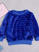 levne Dívčí mikiny-Toddler Dívčí Základní / Šik ven Denní / Dovolená Jednobarevné Dlouhý rukáv Standardní Bavlna Mikinky Námořnická modř