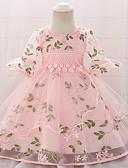 זול שמלות לבנות-שמלה כותנה עד הברך חצי שרוול אחיד Party פעיל / בסיסי בנות תִינוֹק