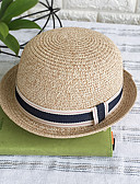 cheap Bikinis-Women's Basic Straw Floppy Hat-Print Blushing Pink Beige Navy Blue