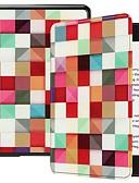 halpa Muu tapaus-Etui Käyttötarkoitus Amazon Kindle Lite (2019) / Kindle PaperWhite 4 Iskunkestävä / Tuella / Ultraohut Suojakuori Geometrinen printti Kova PU-nahka varten Kindle Lite (2019) / Kindle PaperWhite 4 2018