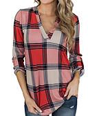 preiswerte Bluse-Damen Einfarbig - Grundlegend Hemd, Hemdkragen Rote L