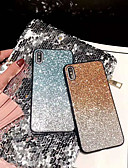 billige iPhone-etuier-Etui Til Apple iPhone X / iPhone XS Max Glitterskin Bagcover Glitterskin Hårdt PC for iPhone XS / iPhone XR / iPhone XS Max