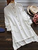 رخيصةأون فساتين طويلة-فستان نسائي ثوب ضيق / قميص أساسي قصير جداً لون سادة / ورد