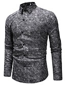 cheap Men's Shirts-men's shirt - floral shirt collar
