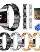 halpa Smartwatch-nauhat-Watch Band varten Fitbit ionic Fitbit Urheiluhihna Ruostumaton teräs Rannehihna