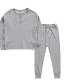 billige Hettegensere og gensere til gutter-Barn / Baby Gutt Grunnleggende Daglig Ensfarget Langermet Normal Normal Bomull Tøysett Navyblå