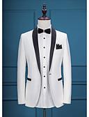 preiswerte Cocktailkleider-Solide Reguläre Passform Polyester Anzug - Schalrevers Einreiher - 1 Knopf / Anzüge