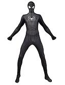 povoljno Zentai odijela-Zentai odijela Odijelo za kožu Puno radno odijelo uz tijelo Super Heroes Dječji Odrasli Lycra Cosplay Nošnje Spol Muškarci Žene Crn Print Božić Halloween New Year