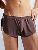 billige Undertøy og sokker til herrer-Herre Issilke (syntetisk) Super Sexy Underbukse Ensfarget 1 Deler