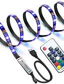 お買い得  メンズブレザー&スーツ-zdm防水1m rgbストリップライト60 led 5050 smd 1m ledストリップライト/ 17キーリモートコントローラrgb tv背景光ip65