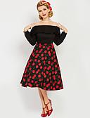 halpa Vintage-kuningatar-Marilyn Monroe Ihmeellinen rouva Maisel Pistekuvio Retro / Vintage 1950-luku Wasp-Waisted Putken mekko Naisten Asu Musta Vintage Cosplay Kotiinpaluujuhla Pitkähihainen Lyhyt