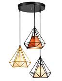 hesapli Romantik Dantel-3-Işık koni / Sanayi Avize Lambalar Ortam Işığı Boyalı kaplamalar Metal İp, Yaratıcı 110-120V / 220-240V