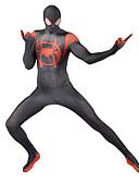povoljno Zentai odijela-Zentai odijela Odijelo za kožu Puno radno odijelo uz tijelo Super Heroes Dječji Odrasli Lycra Cosplay Nošnje Muškarci Žene Crn Print Božić Halloween New Year