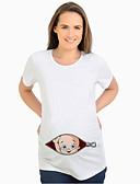 halpa Yläosat-Naisten Piirretty Perus Äitiyskoko - T-paita Valkoinen
