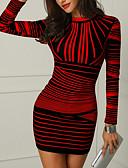 ieftine Rochii NYE-Pentru femei Petrecere De Bază Zvelt Bodycon Rochie Geometric / Dungi Stil Nautic Sub Genunchi