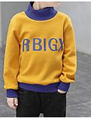 povoljno Suknje za djevojčice-Djeca Dječaci Osnovni Dnevno Jednobojni Dugih rukava Regularna Pamuk Trenirka s kapuljačom Djetelina