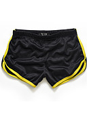 cheap Men's Pants & Shorts-Men's Active Slim / Shorts Pants - Solid Colored / Color Block Yellow / Sports / Summer