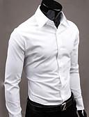 billige Herreskjorter-Herre - Ensfarvet Forretning / Basale Skjorte