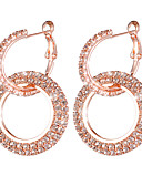 cheap Print Dresses-Women's Two tone Earrings Imitation Diamond Earrings Sweet Fashion Jewelry Gold / Silver / Rose Gold For Wedding Party 1 Pair