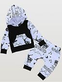 billige Sett med Gutter babyklær-Baby Gutt Gatemote Daglig Trykt mønster Langermet Normal Polyester Tøysett Svart