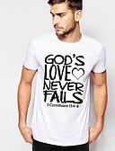 abordables Camisetas y Tops de Hombre-Hombre Camiseta, Escote Redondo Geométrico / Bloques Fucsia XL / Manga Corta
