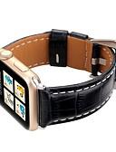 hesapli Deri Saat Bandı-Hakiki deri smartwatch band apple İzle serisi için 4/3/2/1 klasik toka iwatch kayış