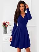 hesapli Print Dresses-Kadın's Kılıf Elbise V Yaka Diz üstü