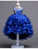 Χαμηλού Κόστους Λουλουδάτα φορέματα για κορίτσια-Γραμμή Α Μακρύ Φόρεμα για Κοριτσάκι Λουλουδιών - Πολυεστέρας / Πολυεστέρας / Βαμβάκι Αμάνικο Με Κόσμημα με Κέντημα / Δαντέλα / Διακοσμητικά με U-SWEAR