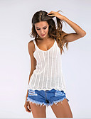 preiswerte Damen Tank-Shirts & kurze Jäckchen-Damen Solide - Grundlegend Baumwolle Tank Tops, Gurt Patchwork