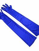 preiswerte Abendkleider-Elastischer Satin Opernlänge Handschuh Einfach / Klassicher Stil Mit Einfarbig