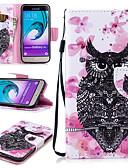 זול מגנים לטלפון-מגן עבור Samsung Galaxy J3 (2016) ארנק / מחזיק כרטיסים / עמיד בזעזועים כיסוי מלא ינשוף קשיח עור PU